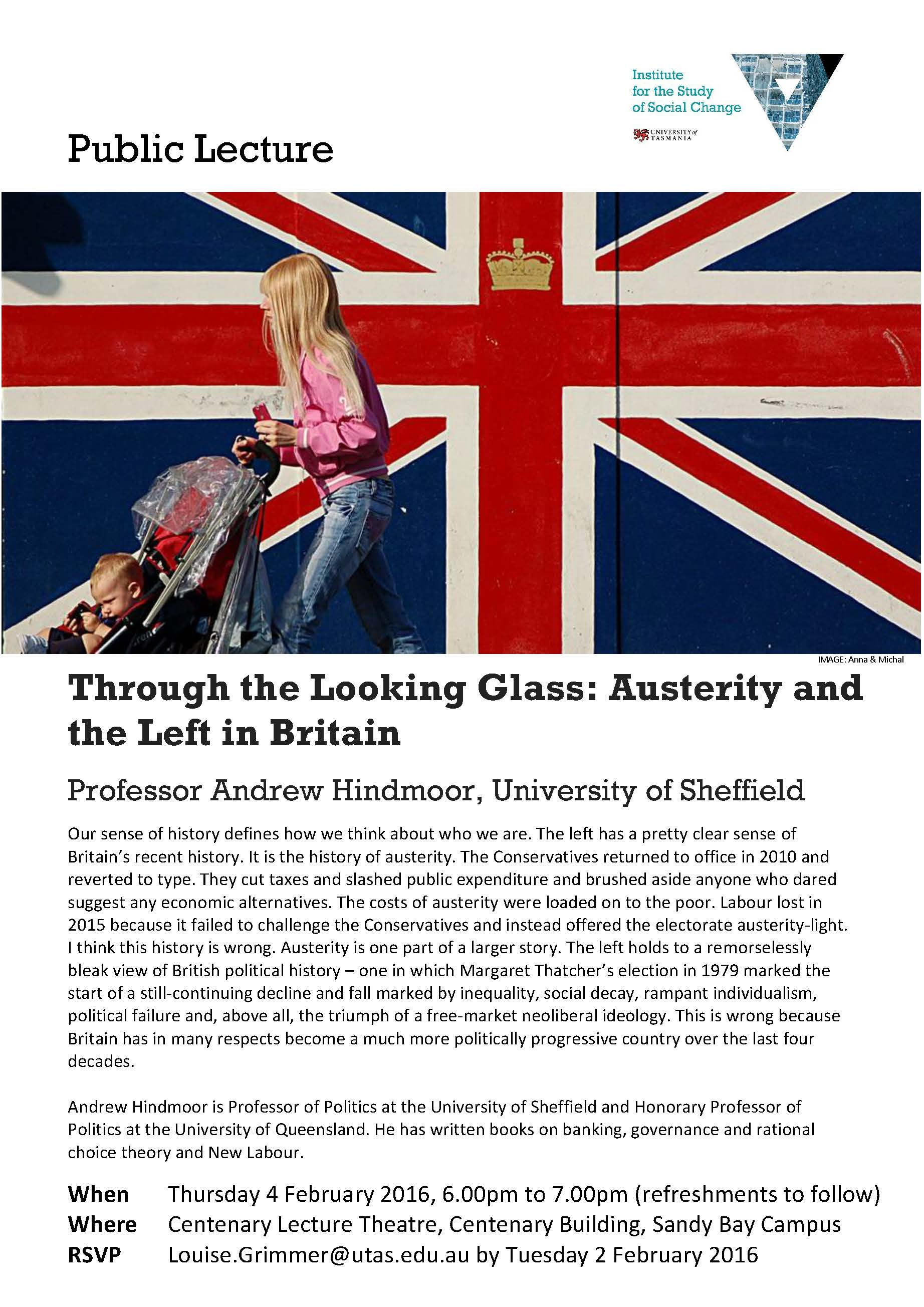 Andrew Hindmoor Public Lecture Flyer