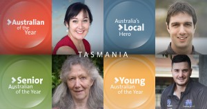 Tasmania's Australians of the Year Rosalie Martin, Margaret Steadman, Mitch McPherson and Anthony Edler are taking part in a series of regional events hosted by the Institute for the Study of Social Change