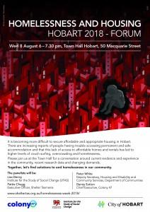 Homelessness and Housing Hobart