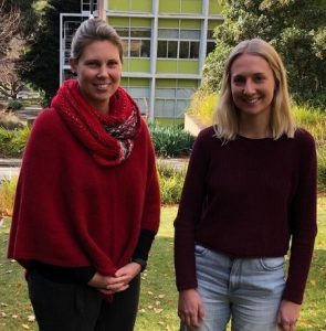 University of Tasmania's Institute for the Study of Social Change Researcher and Demographer Dr Lisa Denny (left) and Researcher Nyree Pisanu launched their latest Insight Report on Tasmania's population trends on 17 June 2019.