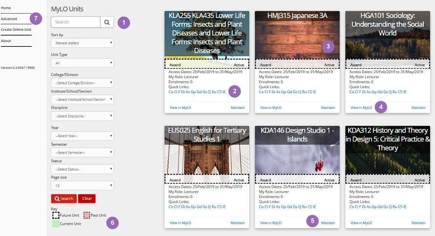 MyLO Manger homepage